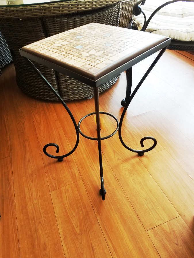 "Black Palm 14"" Square Plant Stand"