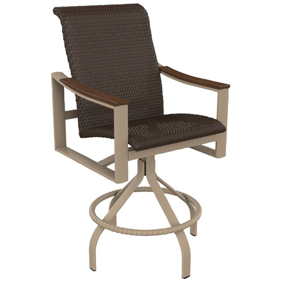 Brazo Woven Swivel Bar Stool