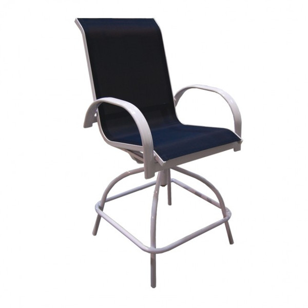 Alum/Sling Capri Counter Height Swivel Chair