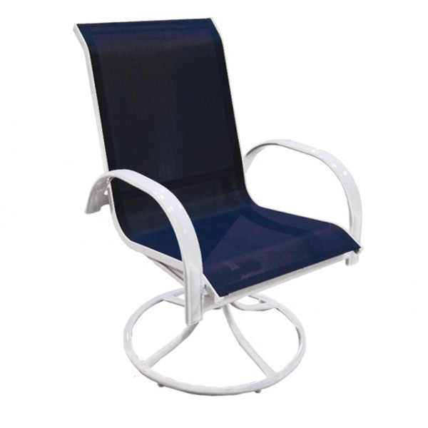 Alum/Sling Capri Swivel Rocker