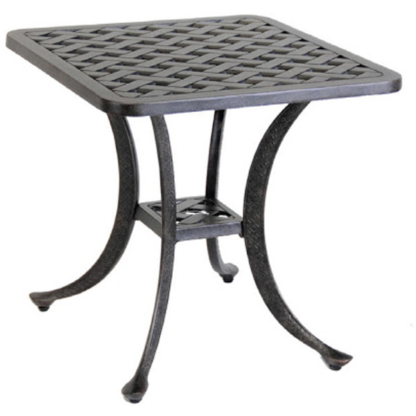 End Table - Basket Weave Pattern - 21""