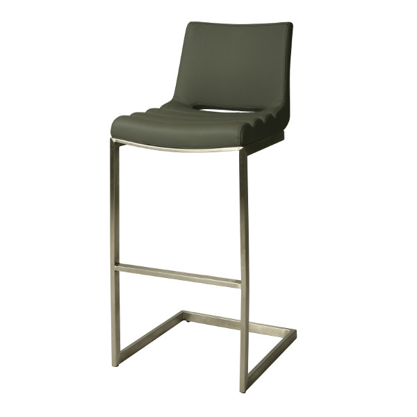 Emily Bar Stool PU Gray