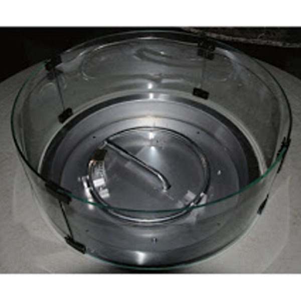 Round Fire Pit Glass Wind Shield
