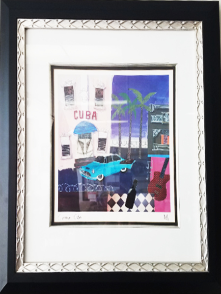 Framed Artwork - Cinema Cuba