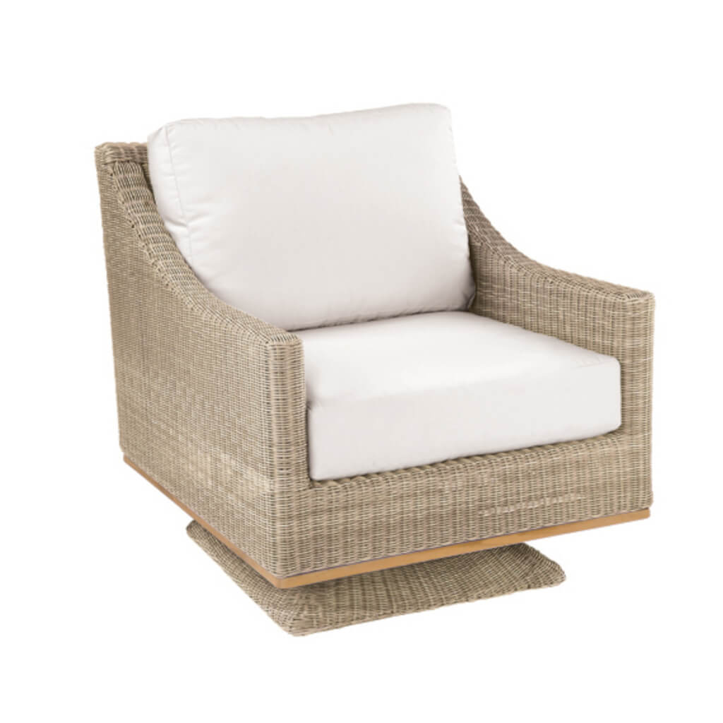 Frances Deep Seating Swivel Rocker Lounge Chair