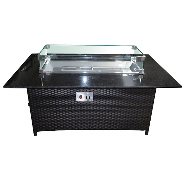 "Rectangular Gas Fire Pit 36"" x 58"""