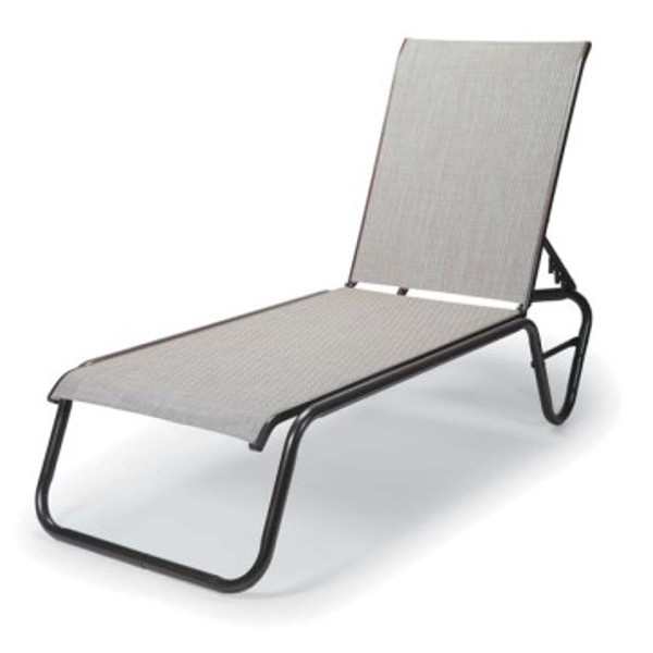 Gardenella Sling Four-Position Lay-flat Stacking Armless Chaise