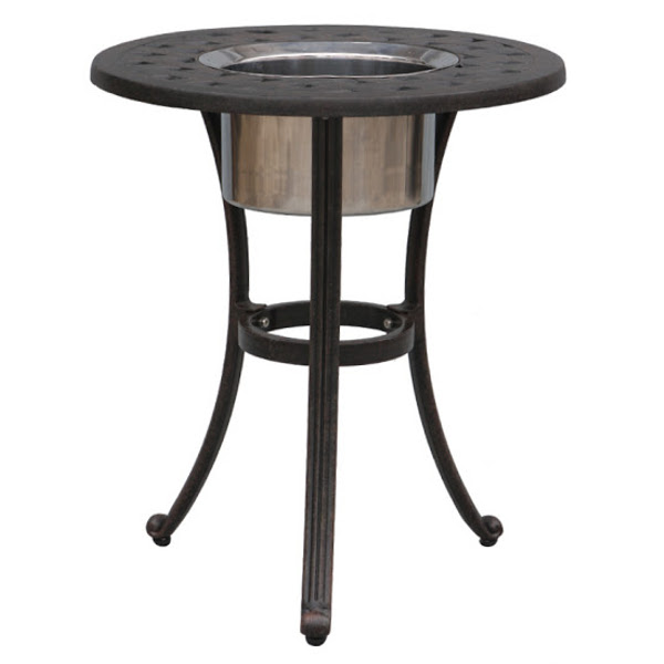 Ice Bucket Chat Table - Basket Weave Pattern - 21""