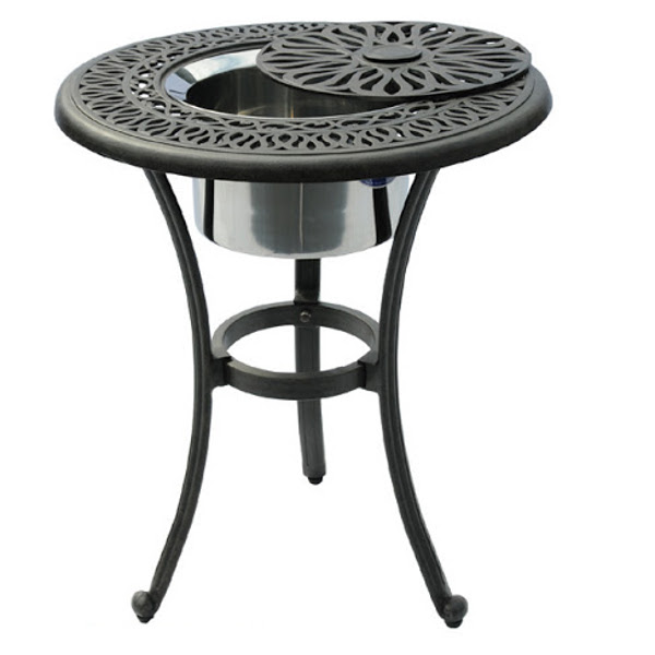 Ice Bucket Table - Floral Pattern - 21""