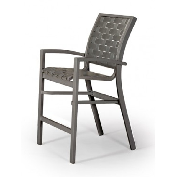 Kendall Contract Cross Strap Balcony Height Stacking Cafe Chair