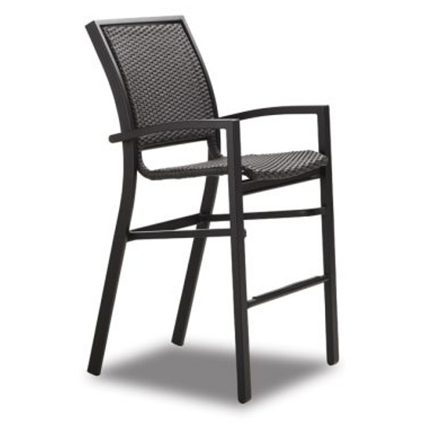Kendall Wicker Bar Height Stacking Cafe Chair