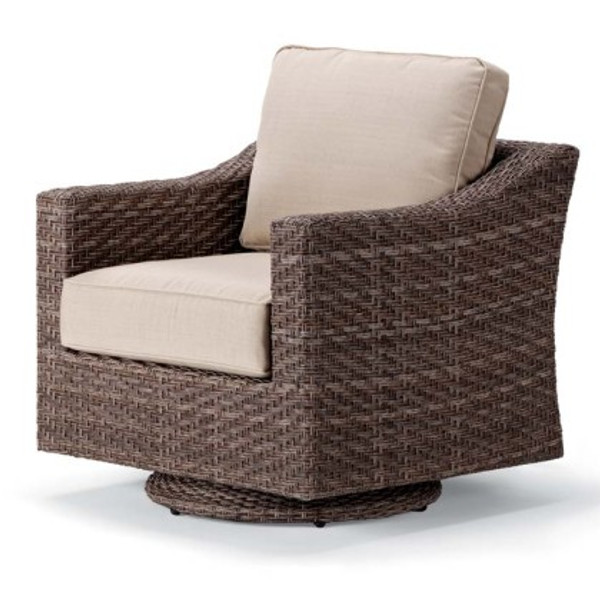 Lake Shore Wicker Swivel Glider
