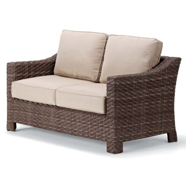 Lake Shore Wicker Two-Seat Love Seat