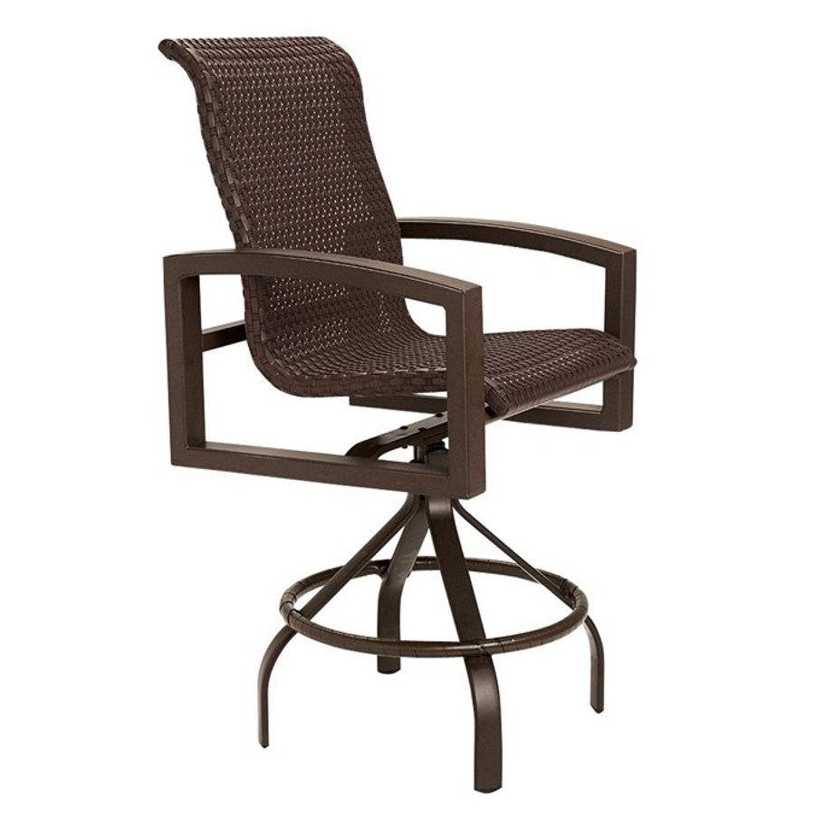 Lakeside Woven Swivel Bar Stool