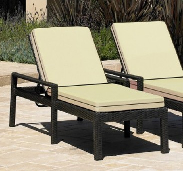 Malibu - Single Adjustable Chaise Lounge w/Arms