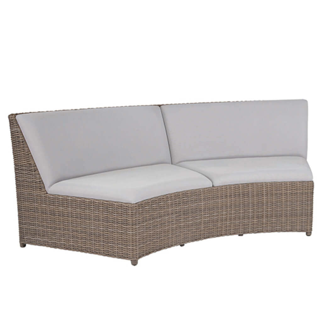 Milano Sectional Curved Armless Settee