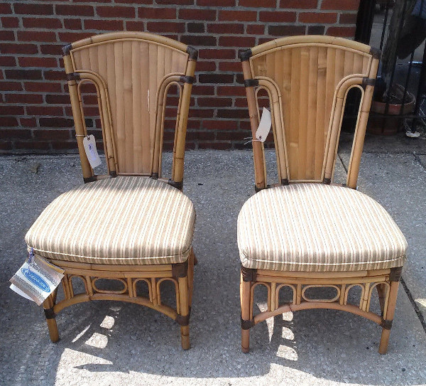 Majaro Rattan Dining Chairs - Pair