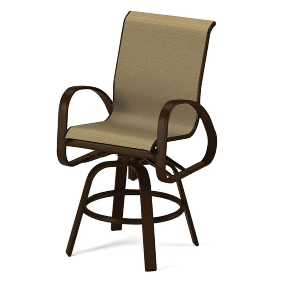 Primera Sling Balcony Height Swivel Arm Chair