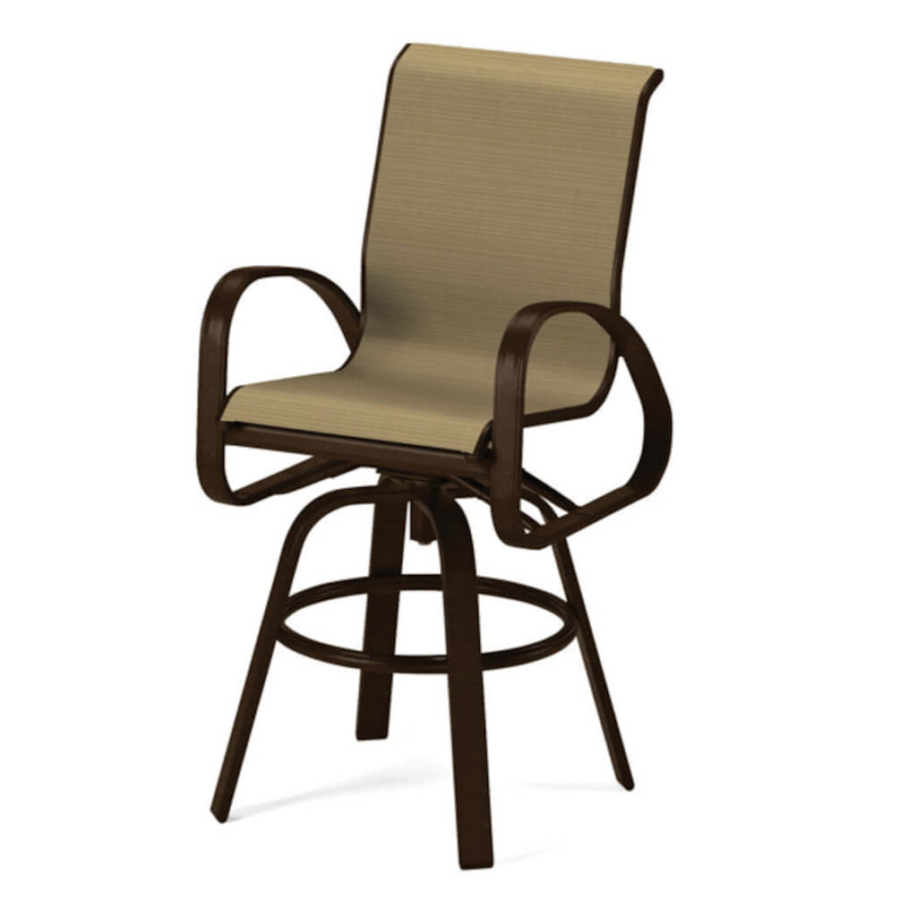 Primera Sling Bar Height Swivel Arm Chair