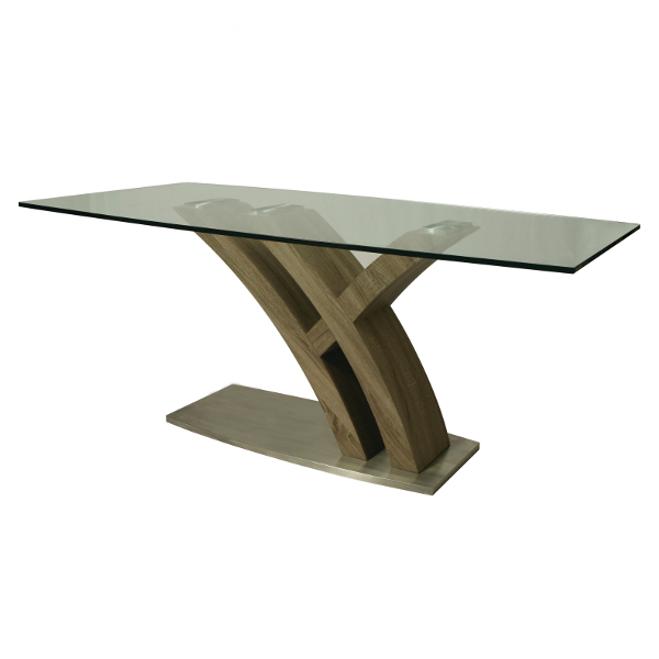 "Quanto Basta Glass Top Table - 70"" X 38"""