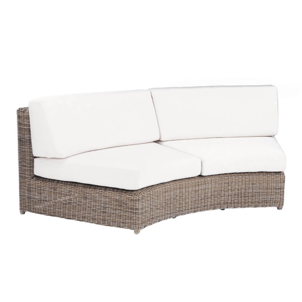 Sag Harbor Sectional Curved Armless Settee