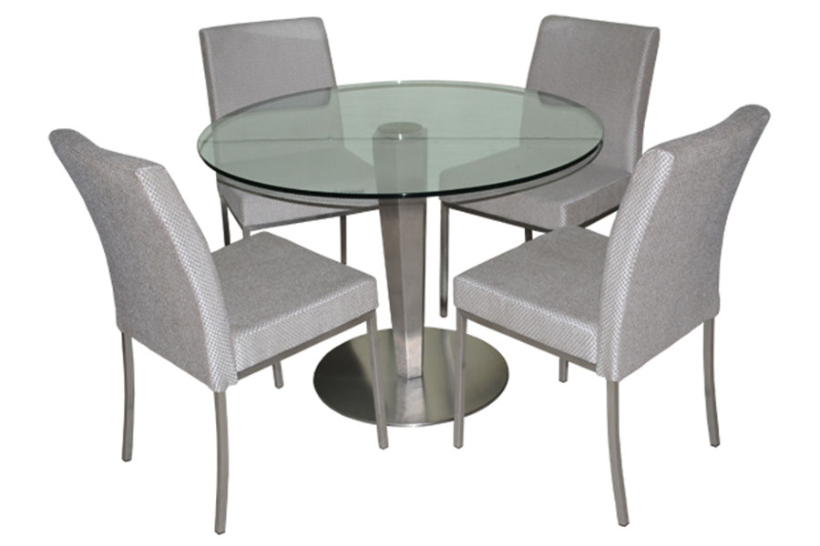 Sherry Dining Set with Glass Top