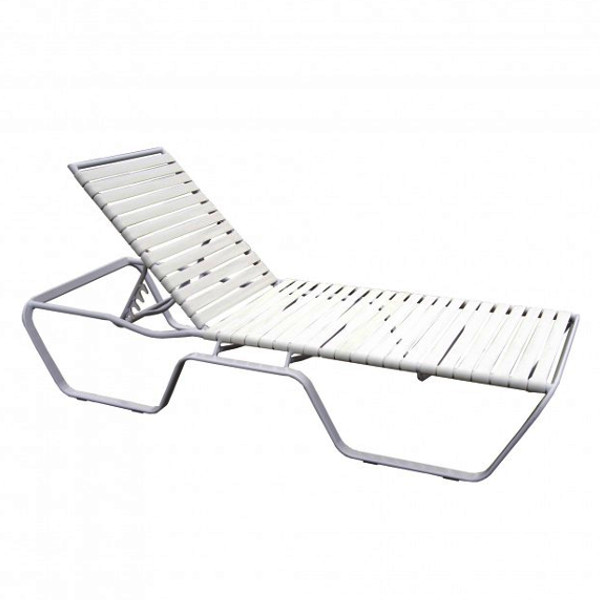 Alum/Sling Strap Chaise Lounge