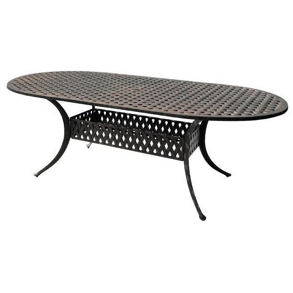 "Oval Table - Basket Weave Pattern - 42"" x 102"""