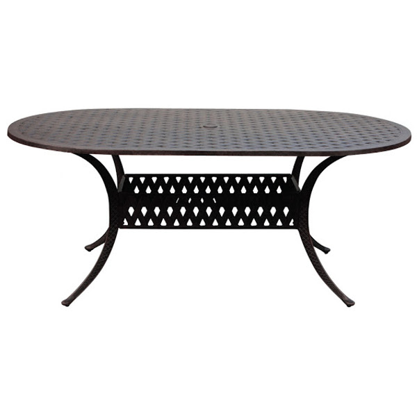 "Oval Table - Basket Weave Pattern -42"" x 72"""