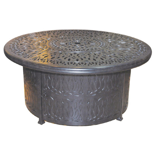 Fire Pit - Floral Pattern - Gas - 52""