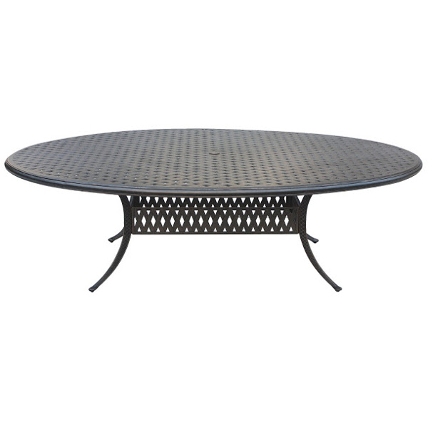 "Table - Basket Weave Pattern - Oval - 72"" x 100"""