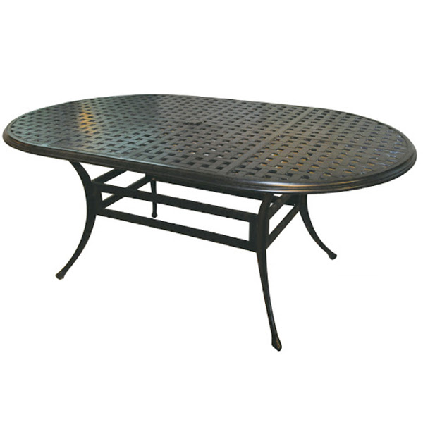 "Oval Table - Basket Weave Pattern - 42"" x 72"""