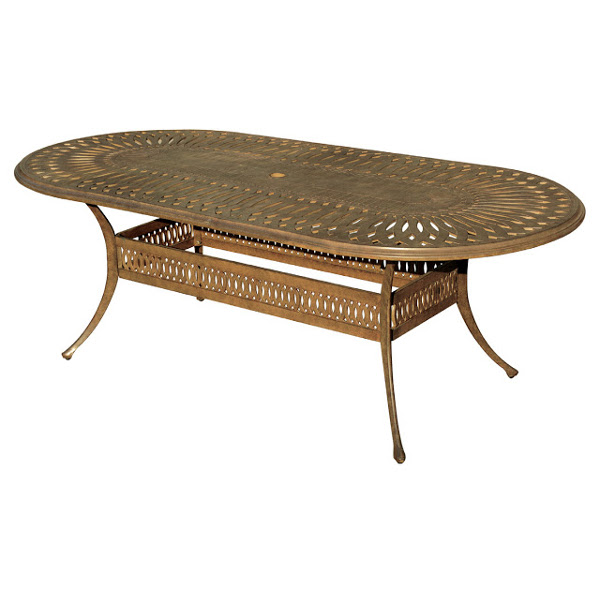 "Oval Dining Table - Diamond Pattern- 42"" x 87"""