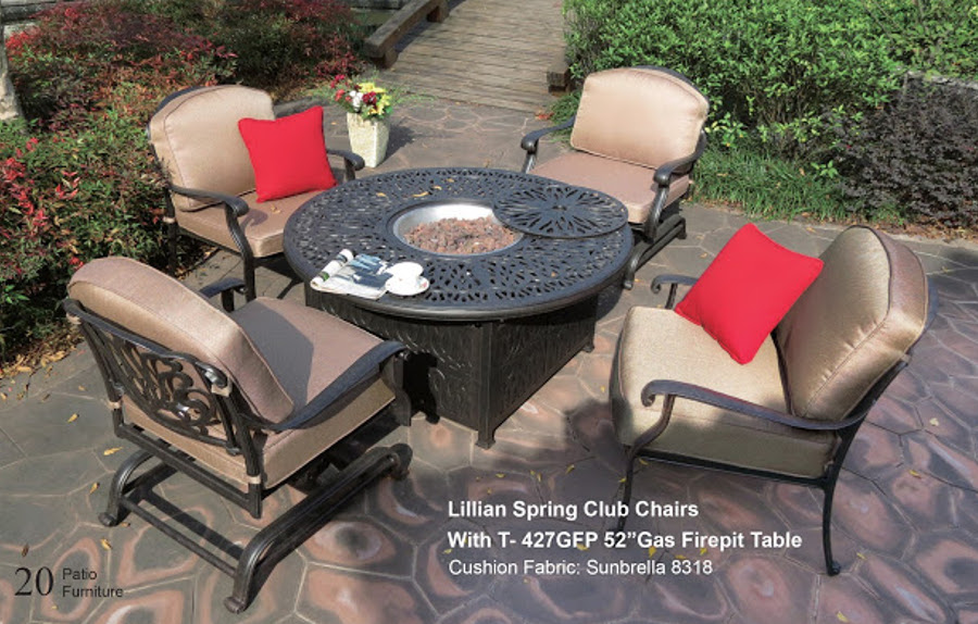Lillian Spring Club Chairs w/Fire Pit