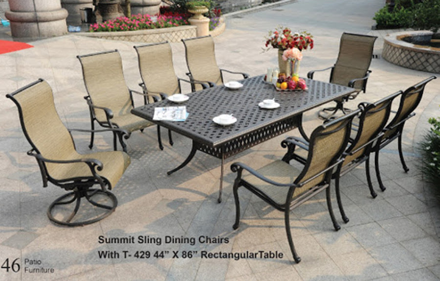 The Summit Collection Sling Dining Set