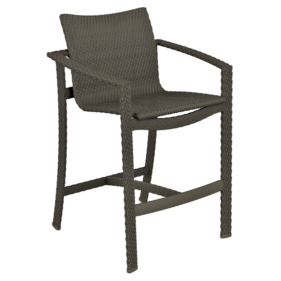 Vela Woven Stationary Bar Stool