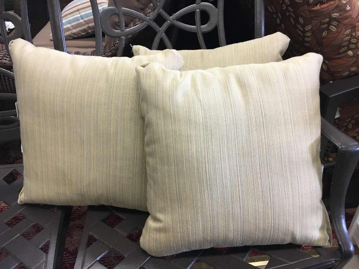 Striped Linen Pattern Throw Pillow