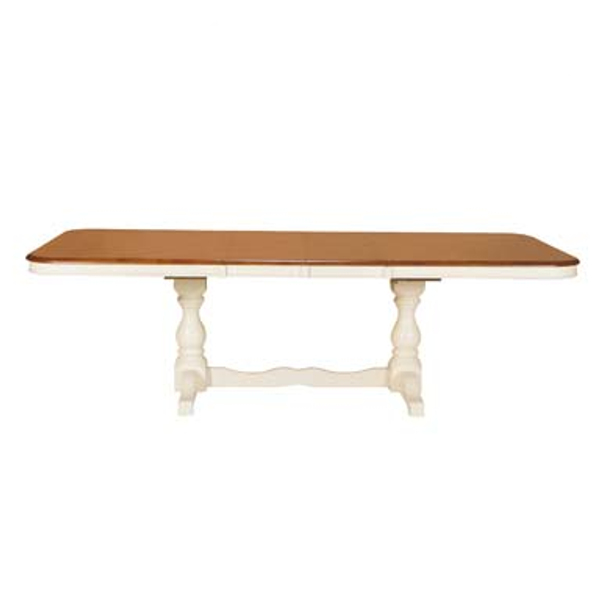 Double Pedestal Table - Heritage Pearl